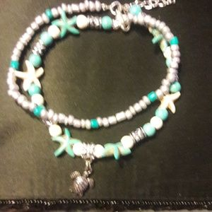 Jewelry - Silver and Turquoise and Cream w/ Turtle Accent